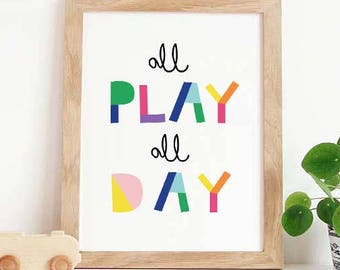 Playroom Wall Art Letu0027s Play Nursery Decor Playroom Decor Playroom Sign Playroom Decal Playroom Art Playroom Wall Decor For Playroom  sc 1 st  Etsy & Playroom wall art | Etsy