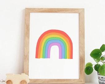 Watercolour Rainbow, Rainbow Art Print, SALE PRINT, Art Print, Fine Art  Print For Girls, Kids Room Art, Fine Art Print, Nursery Wall Decor