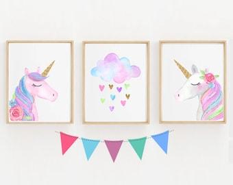 Unicorn Wall Art Etsy