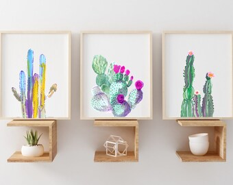 cactus art etsy