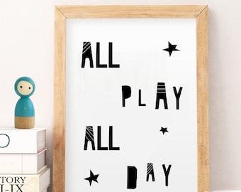 50% OFF SALE P typography print, nursery print, nursery art, kids room art print, playroom decor, boys nursery print, letter art, typography