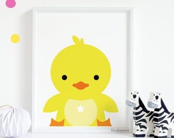 Nursery Prints, SALES Cute ducky Print, Nursery Decor, Nursery Wall Art, Nursery Art, Animal Print, Nursery Artwork,Animal Art,Printable Art