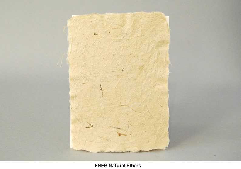 Set of 10 sheets. 5.25 x 7.25 with deckled edges Natural and fiber handmade paper sheets