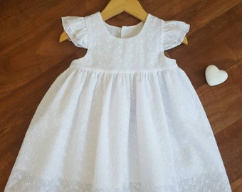 045dd0b76f3 Girls White Broderie Anglaise Sundress.