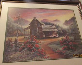 """ARNOLD MCDOWELL Print..""""Smokey Mountain Memories""""..1995..103/1500..Quality Frame"""