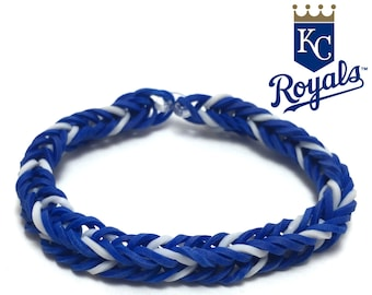 Kansas City Royals Rubber Band Bracelet - Fishtail Design