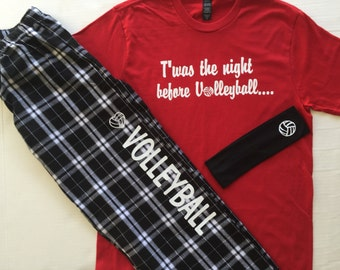 Twas the Night Before Volleyball PJ Gift Set