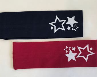 Two Star Headbands Navy and Red