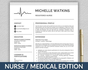 Nurse resume | Etsy