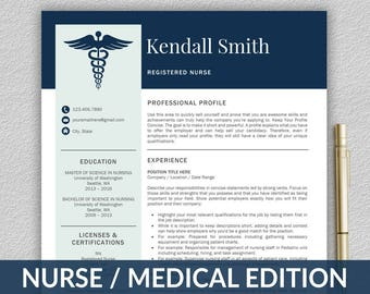 Medical Resume Etsy