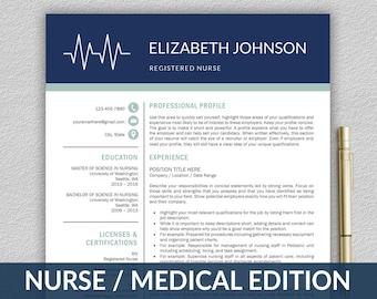 medical resume etsy