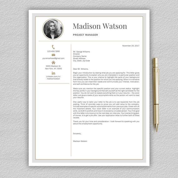 Modern Resume Template Professional Resume Template Word Cv Template Creative Resume Template Modern Cv Templates