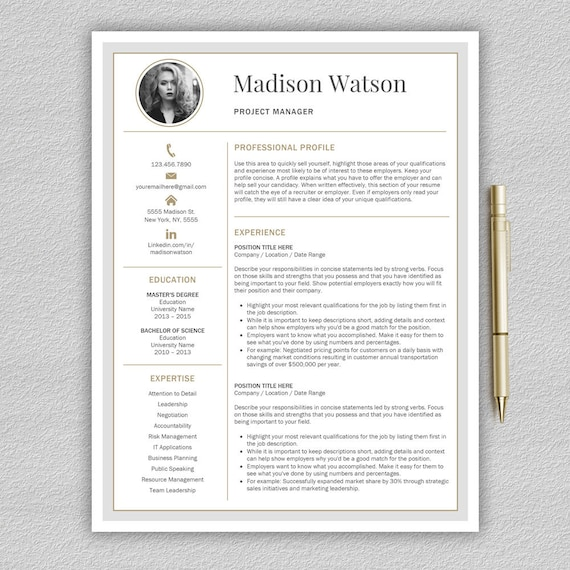 Modern Resume Template | Professional Resume Template Word | CV Template |  Creative Resume Template | Modern CV Templates
