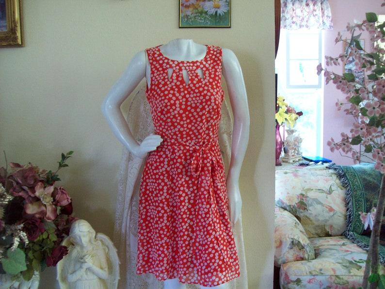 a2364552d431 Coral Polka Dot Dress Coral Summer Dress Polka Dot Coral | Etsy