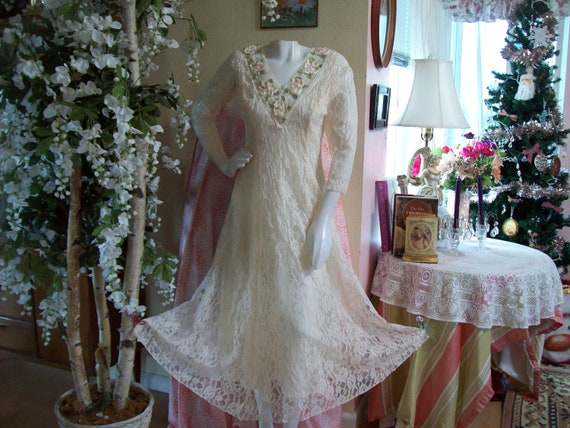 Victorian Wedding dress Midnight Glo Boho Wedding