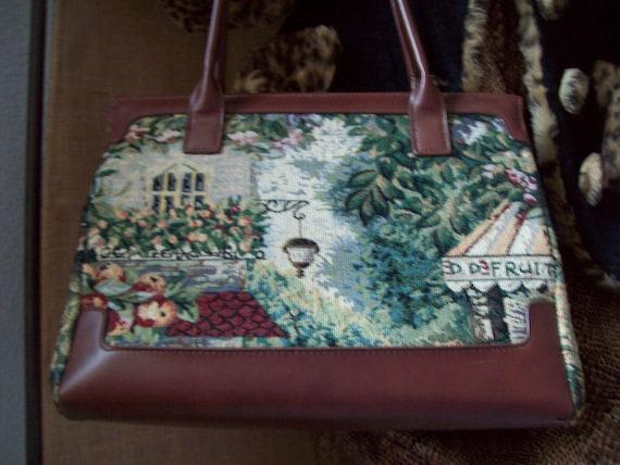 Tapestry Purse, Tapestry Purse w/Italian Look, Flo