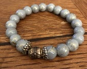 Grace And Glass Enchanted Grey Marbled Bracelet