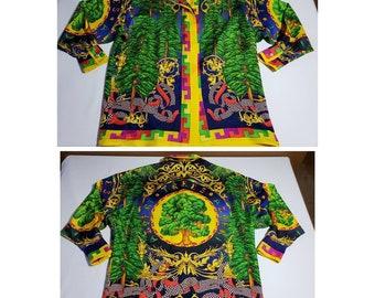8db7267e322 Vintage Gianni Versace Couture Silk Shirt or very very Light Jacket sz 40  hip hop rap designer