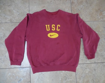 1a81786a5 VTG USC Nike Pullover Cardinal Red Color Sweatshirt Sweater Medium