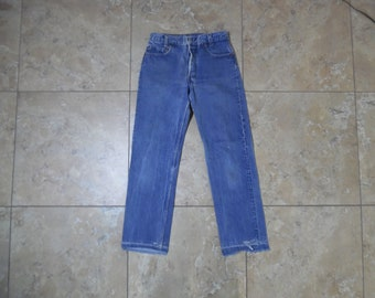 3eae9f99 VTG Levi's 701 Student Button Fly Medium To Dark Wash Blue JEANS Made in  USA 30x36 Measured 28x29 501
