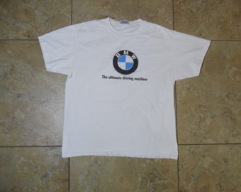 9371af41c0e2 VTG BMW The Ultimate Driving Machine White T-Shirt USA Made Large