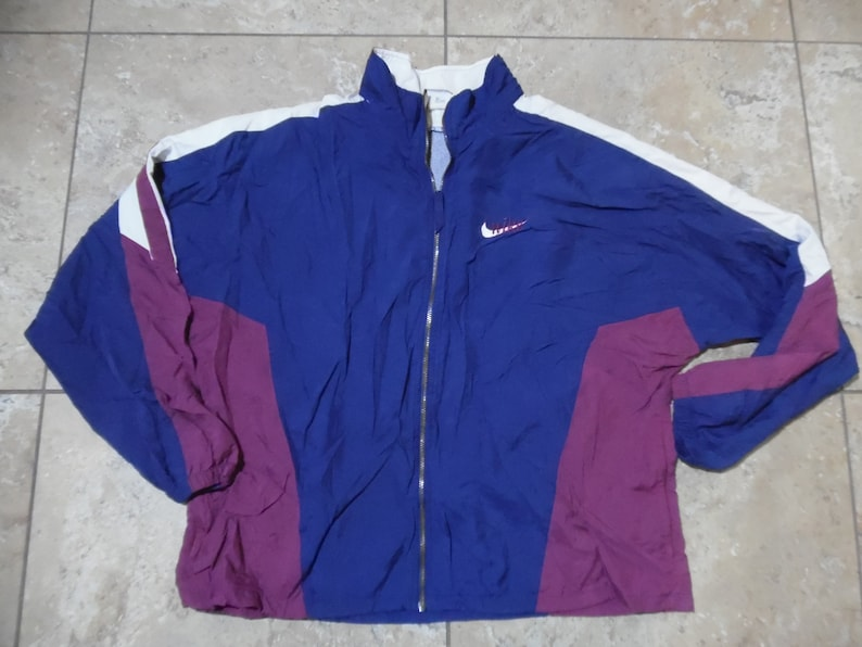 76705794f Vintage Nike Nylon Track Jacket Embroidered Spell-Out Swoosh | Etsy