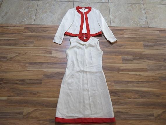 Vintage Leslie Fay 2 Piece Set Dress and Jacket Mo