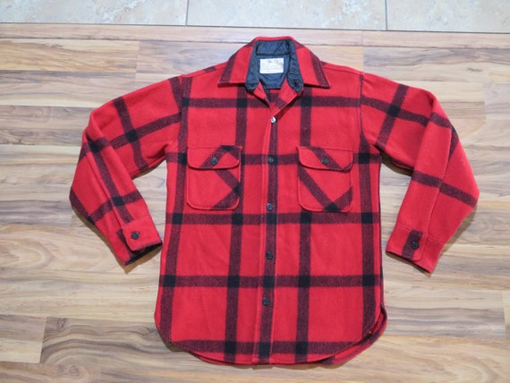 Vintage Penney's Foremost Buffalo Plaid Red Black