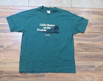 NWOT Vintage Little House on The Prairie Green T-shirt Sz XL