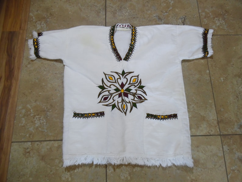 Vintage Cotton Hippy Tunic Top Shirt sz L-XL
