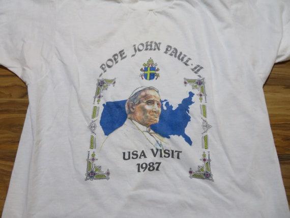Vintage Pope John Paul II 2nd USA Visit 1980s Whi… - image 3