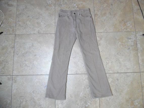 RARE! VTG Levi's 517 Corduroy Beige Jeans Pants 33