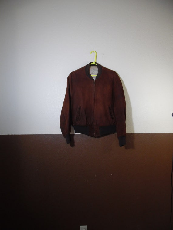 VTG Hercules Outerwear Leather Suede Brown Zip up