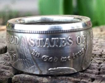 Morgan Silver Dollar Coin Ring thick band