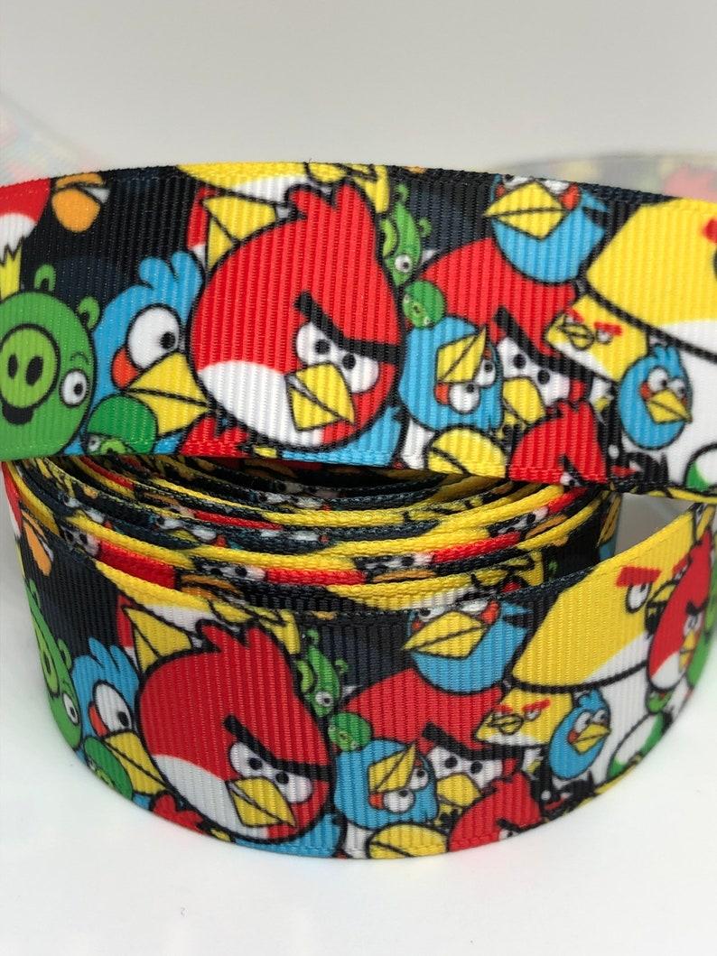 Cartoon Ribbon Craft Supplies Character Ribbon Bird Ribbon Grosgrain Grosgrain Ribbon 1\u201d Printed Ribbon