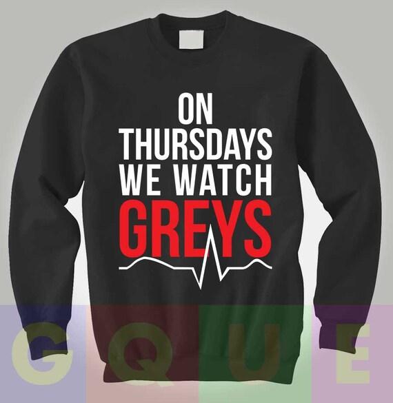 Suéter de anatomía de Grey anatomía sudadera grises jueves que