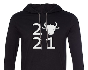 Mens Hooded - 2021 #2 Shirt - Year Of The Ox Chinese Zodiac Tee Shirt Lunar Year Spring Festival Hoodie, Happy New Year