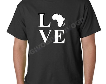 LOVE Africa Shirt, Continent T-Shirt, Short Sleeve Tee, History African, Black Every Month, Black Lives Matter, Black History Month