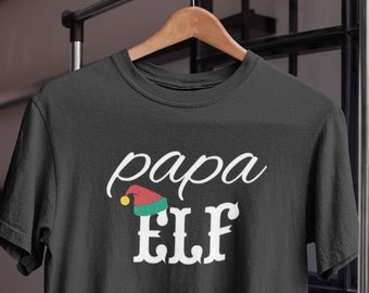 Men's Papa Elf T-shirt - Family Christmas Shirt - Holiday Tee - X-mas Gift - Funny Christmas Shirt