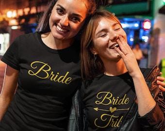 Bride Tribe T Shirts, Bride Shirt, Bridesmaid Shirt, Bachelorette Shirt, Bride Squad Shirts, Bridal Party, Maid Of Honor