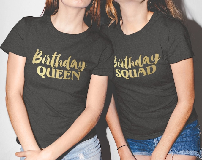 a9769b537 Womens - Birthday Squad Shirts - Bday Queen T-Shirt - Funny Party Women Tee