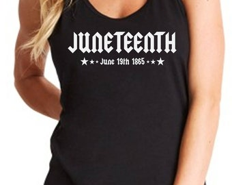 Women's Tank Top - Juneteenth Shirt - Independence Day - Freedom Day - Emancipation Day - African American T-Shirt - Handmade