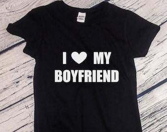 Womens - I Love My Boyfriend Shirt, Valentines Day T-Shirt, Anniversary Gift, Valentine's Tee