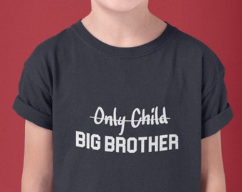 Boys - Youth Toddler, Big Brother T Shirt, New Baby, Birth Announcement T-Shirt, Sibling Bro Tee, Boy, Kids Size