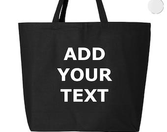 Personalized Tote Bag 25L, Add Your Text, Personalized, Custom Printed, Custom Gift, Custom Handwriting, Jumbo Shopping Bag