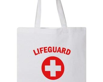 Lifeguard Bag White Black YMCA Pool Staff Athletic Lifesaver Rescuer