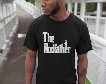 The Rodfather Shirt - Fishing T-Shirt - Funny Gift Dad - Present T Shirt - Gift For Fisherman - Christmas - Fish Tee