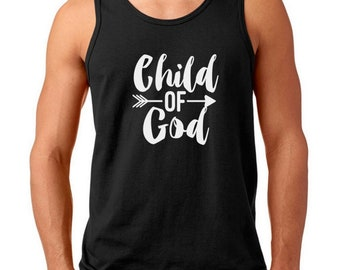 556d4f71c Men's Tank Top - Child of God Shirt, Christian Easter Gift, Faith Based T- Shirt, Bible, Easter Tee, Christian Holiday Tee, Easter Outfits