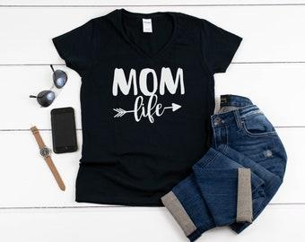 Women's V-neck - Mom Life #2 T Shirt, Mom Shirt, Gift For Mom, Funny Mom Shirt, Mama Shirt, Mom Shirts, Mama Bear T-Shirt, Christmas