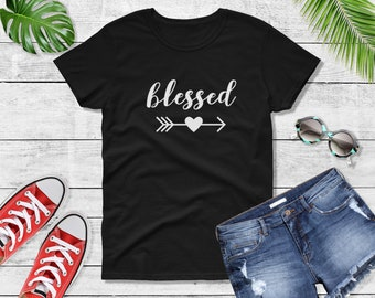 Womens - Blessed T Shirt, Christian Shirt, Blessed Tshirt, Faith, Religious, Jesus, Blessed Mama